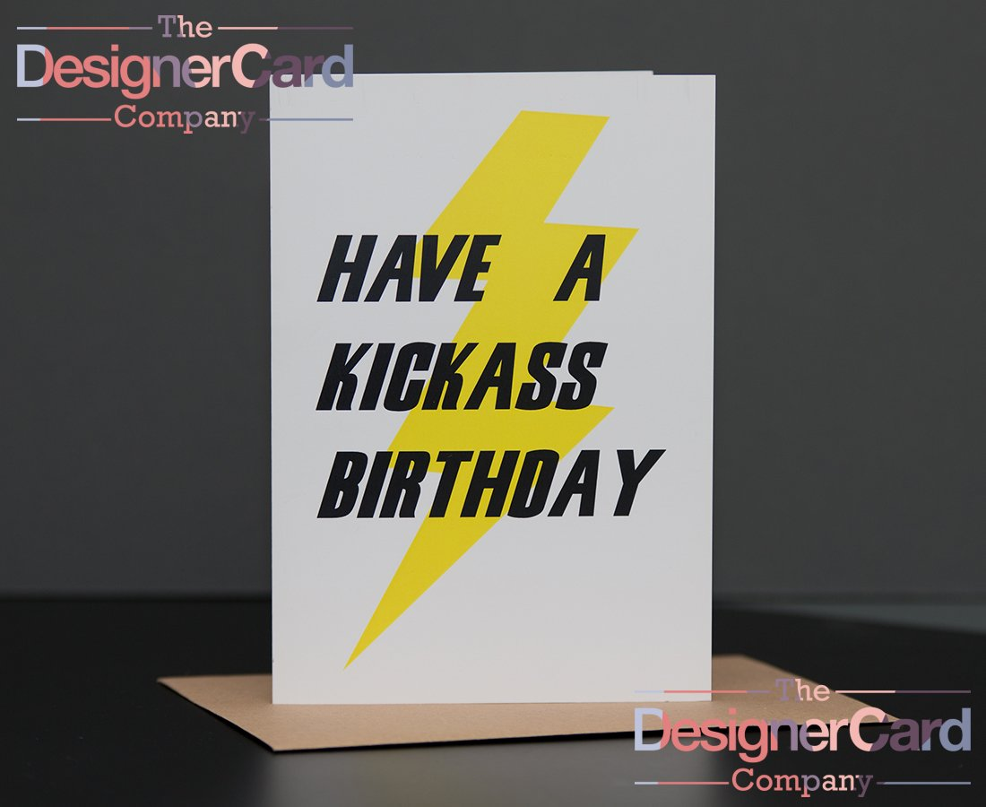 kick ass superhero birthday card  the designer card company, Birthday card